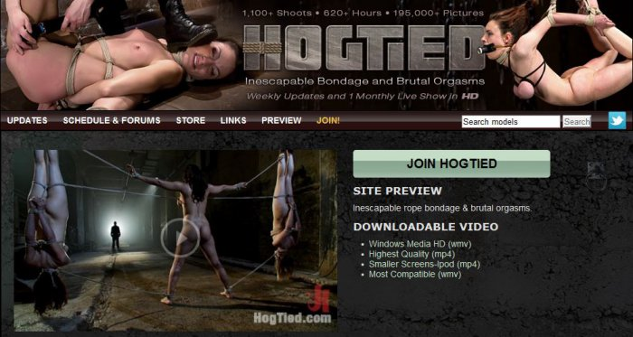 Hogtied Siterip Edition 2000 - Inescapable Bondage and Brutal Orgasms